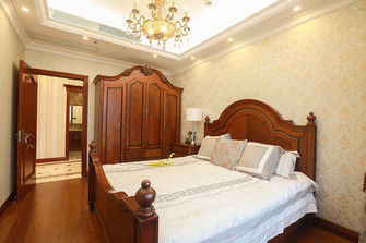 120平米四室两厅英伦风格卧室效果图