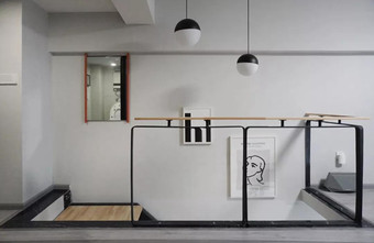 30平米以下超小户型现代简约风格楼梯间图片