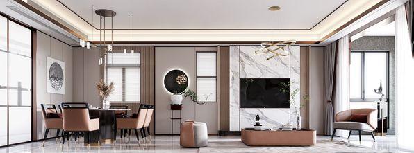 130平米复式中式风格餐厅设计图