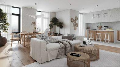 100平米一室一厅现代简约风格客厅图片大全