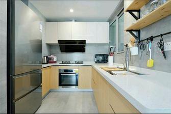 120平米三室两厅北欧风格厨房橱柜设计图