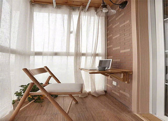 90平米三室一厅日式风格阳光房装修效果图