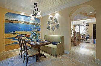 130平米复式地中海风格餐厅图片