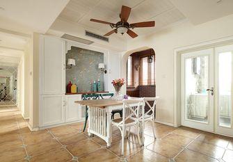 140平米三室两厅田园风格餐厅图片大全