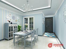 90平米三室一厅田园风格餐厅图片
