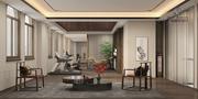 140平米中式风格健身室设计图
