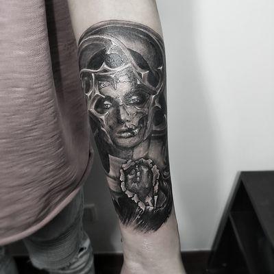欧美写实纹身图