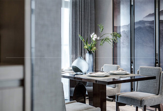 130平米四室一厅中式风格餐厅效果图