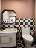 60平米一室一厅混搭风格卫生间装修效果图