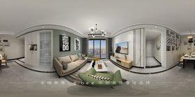 80平米三室兩廳北歐風格客廳設計圖