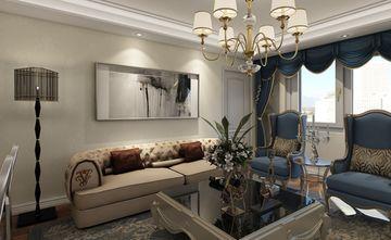 80平米三新古典风格客厅图片大全