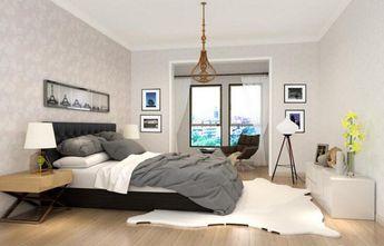 140平米北欧风格卧室壁纸效果图