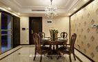 120平米三室一厅新古典风格餐厅欣赏图