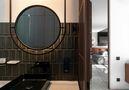 60平米公寓英伦风格卫生间装修效果图