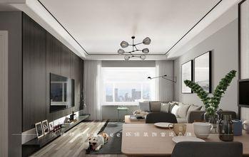80平米三室两厅北欧风格客厅图片大全