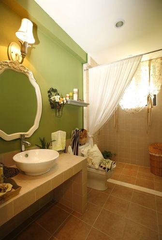 120平米三室两厅田园风格卫生间图片