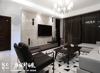 富裕型130平米三室两厅现代简约风格客厅图