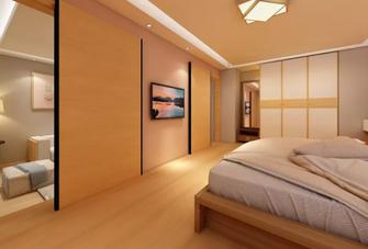 80平米一居室北欧风格卧室装修案例
