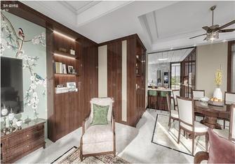 140平米三室三厅美式风格餐厅图片