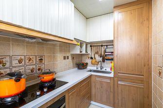 130平米三室两厅田园风格厨房图