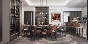 140平米四室两厅田园风格餐厅效果图