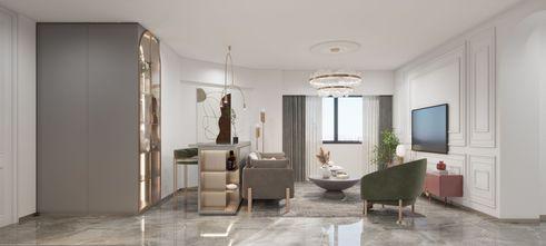 90平米三室两厅法式风格客厅效果图