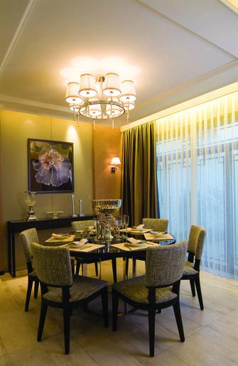 110平米三室两厅东南亚风格餐厅图片