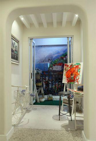 120平米三室一厅田园风格走廊图片