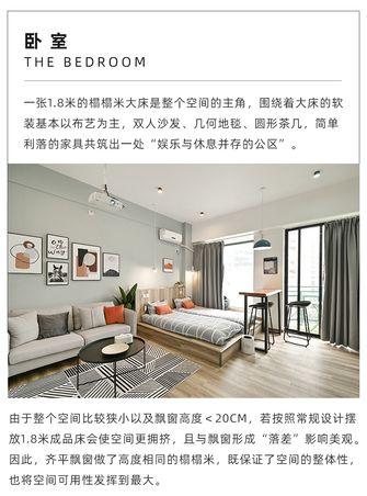 30平米以下超小户型北欧风格卧室设计图
