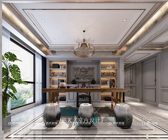 140平米四室两厅新古典风格书房图片
