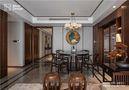 140平米公寓中式风格餐厅图片大全