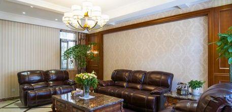 15-20万140平米四室五厅现代简约风格客厅图片