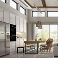 130平米三室两厅田园风格餐厅装修案例