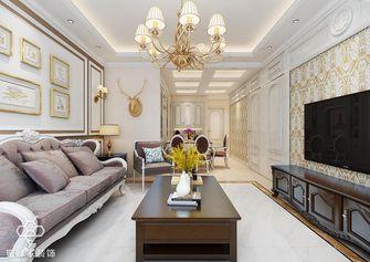 90平米三室一厅欧式风格客厅装修效果图