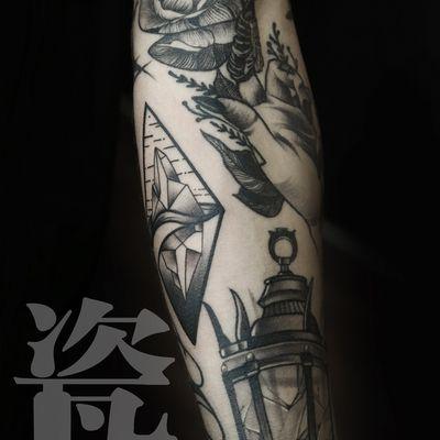 school花臂纹身款式图