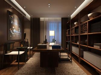 140平米三室一厅中式风格书房图片大全