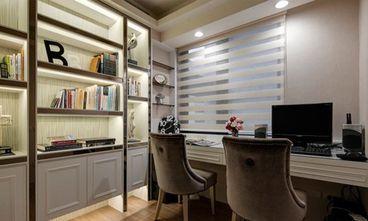 90平米三室一厅欧式风格书房设计图