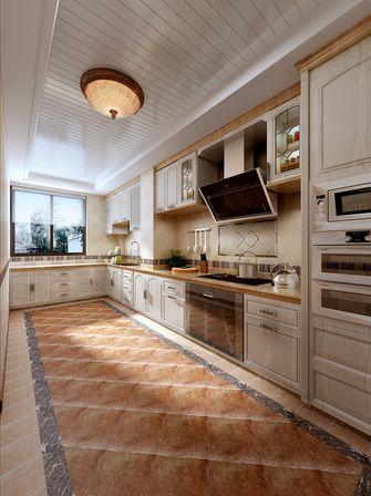130平米三室两厅田园风格厨房装修效果图