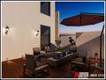 90平米三室两厅英伦风格阳台装修效果图