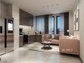 50平米一居室现代简约风格餐厅图