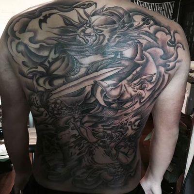 传统满背纹身款式图