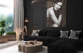 50平米一居室北欧风格客厅设计图