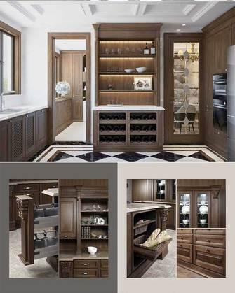 140平米三室两厅新古典风格衣帽间图