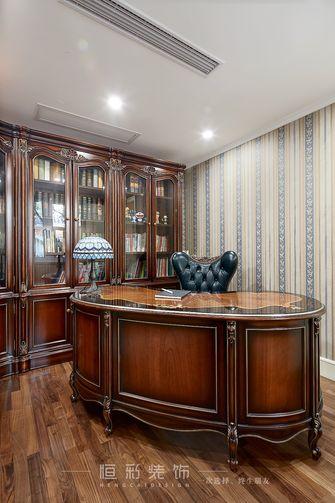 豪华型140平米复式法式风格书房图片