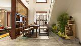 140平米公寓中式风格客厅装修案例