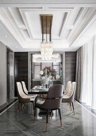 140平米别墅英伦风格餐厅图