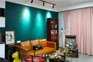 90平米三室三厅混搭风格客厅装修案例