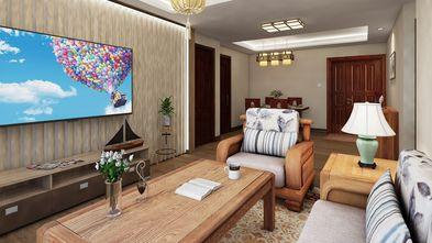 60平米中式风格客厅图