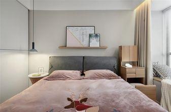 80平米三室两厅现代简约风格卧室设计图