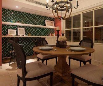 90平米三室两厅田园风格餐厅图片